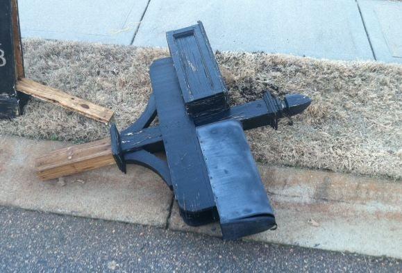 Mailboxes knocked down in Boiling Springs neighborhood (FOX Carolina)