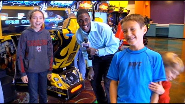 Surprise Squad hands out game cards at Frankie's Fun Park ...