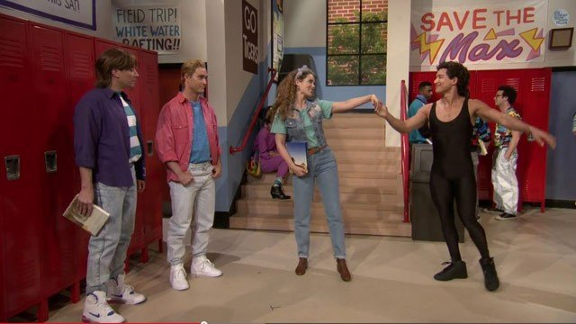 The cast of 'Saved by the Bell' reunited Wednesday. (Source: YouTube)