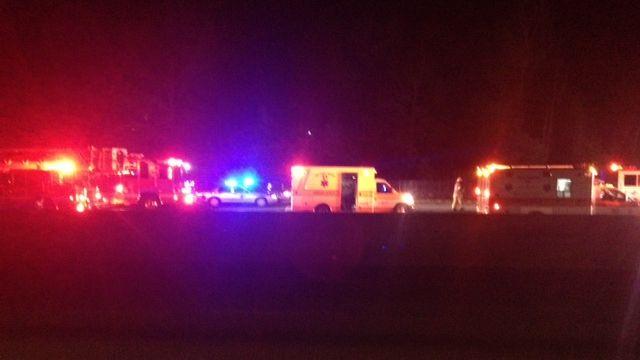 Officials investigated the crash on I-85 North near Wellford. (Feb. 11, 2015/FOX Carolina)