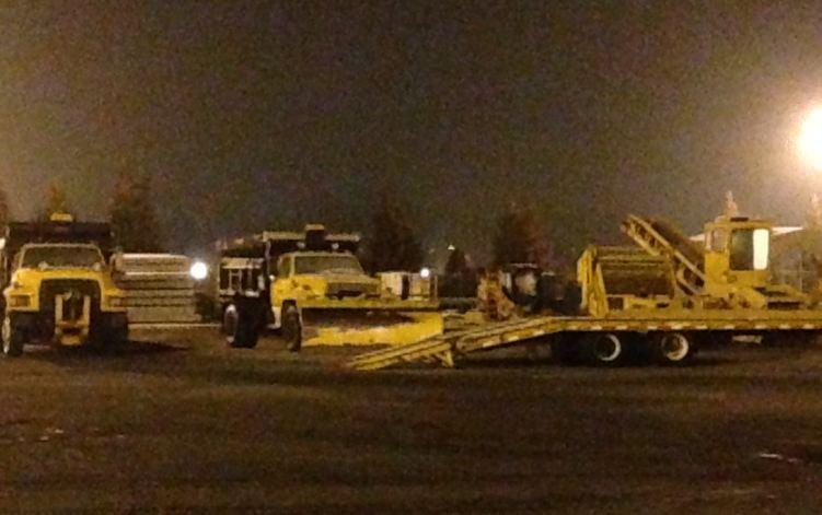 SC DOT trucks in Spartanburg County (FOX Carolina)