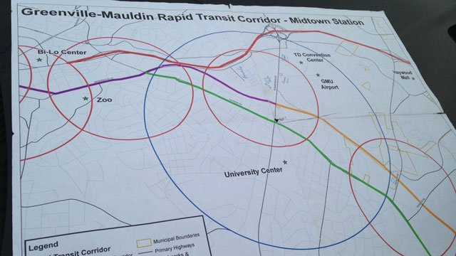Greenville-Mauldin Rapid Transit Corridor (March 1, 2015/FOX Carolina)