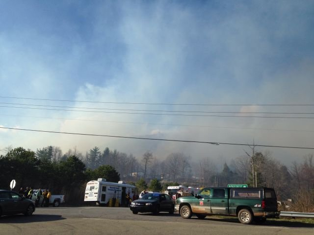 black mountain fire 50 percent contained continues to spread cbs46 news. Black Bedroom Furniture Sets. Home Design Ideas
