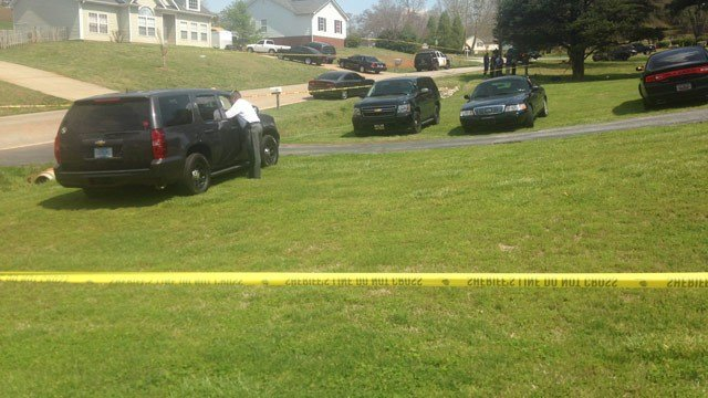 Officials investigate the officer-involved shooting. (April 9, 2015/FOX Carolina)