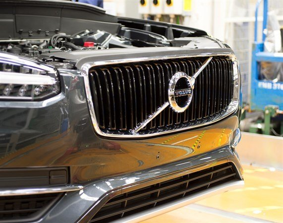 A Volvo XC90  at the Torslanda plant. (Courtesy: Volvo)