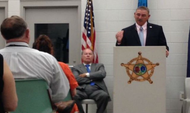 Spartanburg Co. Sheriff Chuck Wright congratulates graduates of Operation Educate (FOX Carolina/ May 20, 2015)