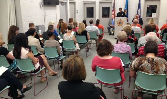 Crowd gathered to watch Operation Education graduation (FOX Carolina/ May 20, 2015)