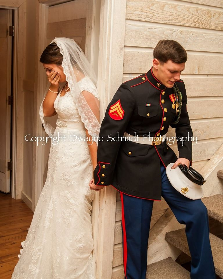 Photographer captures special moment at Marine's wedding