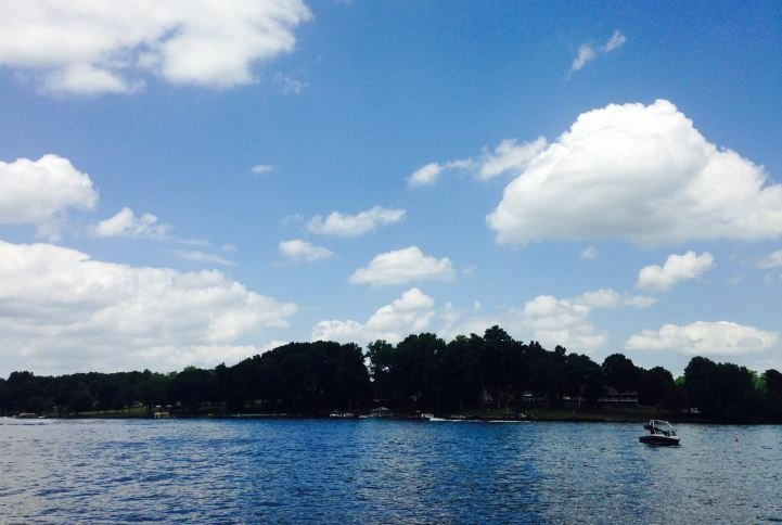 Clouds over Lake Bowen in Spartanburg County (FOX Carolina/ May 25, 2015)