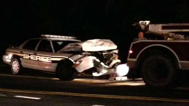 Pickens Co. deputy cruiser damaged in crash (FOX Carolina/ June 8, 2015)