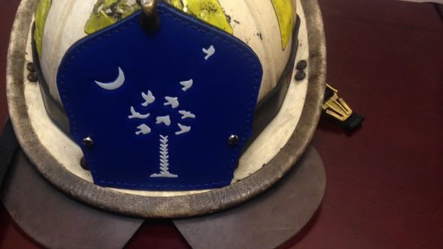 Greenville Co. firefighter creates helmet fronts to honor ...