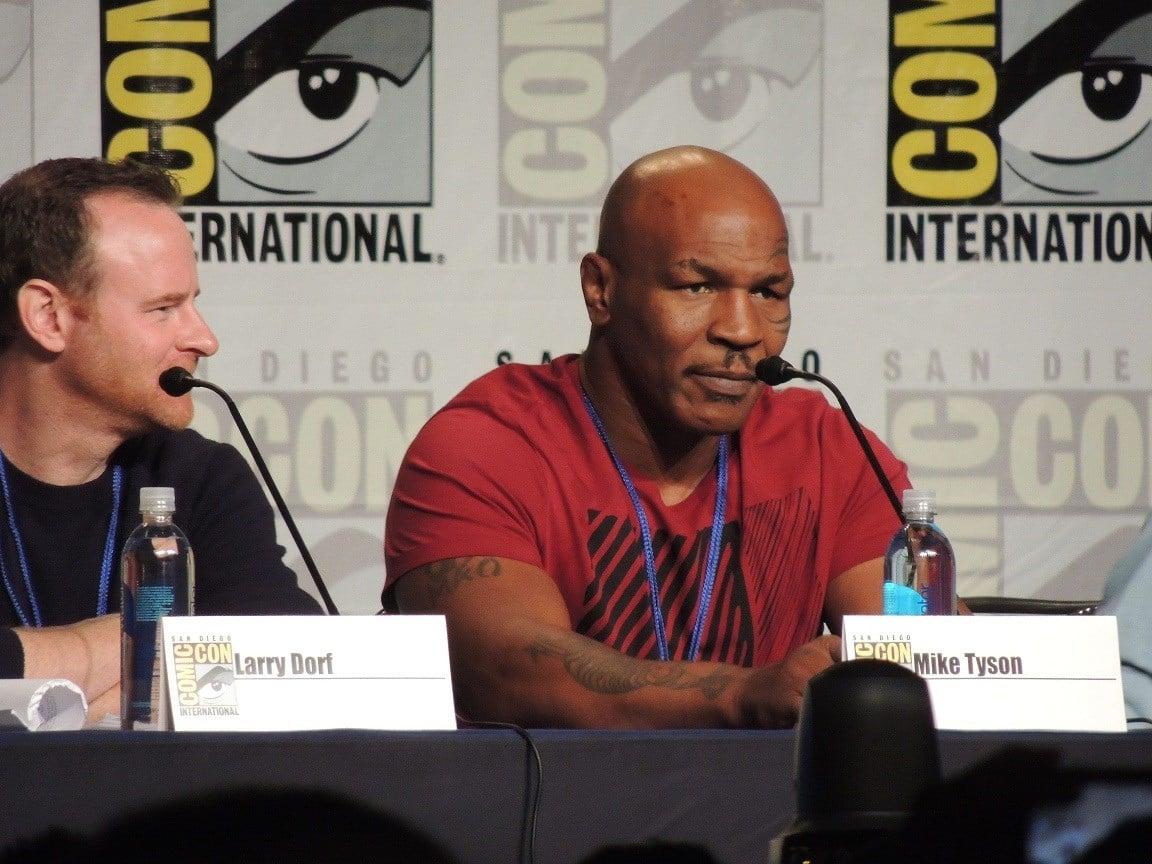 Tyson promoting Mike Tyson Mysteries