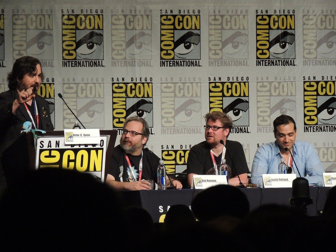 Rick and Morty Panel (LtoR) Brian Quinn, Dan Harmon, Justin Roiland, Ryan Ridley