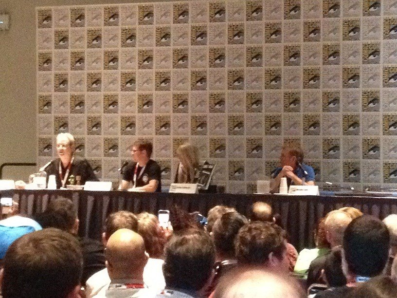 Land of the Lost Panel (LtoR) David Gerrold, Phil Paley, Kathy Coleman, and Wesley Eure