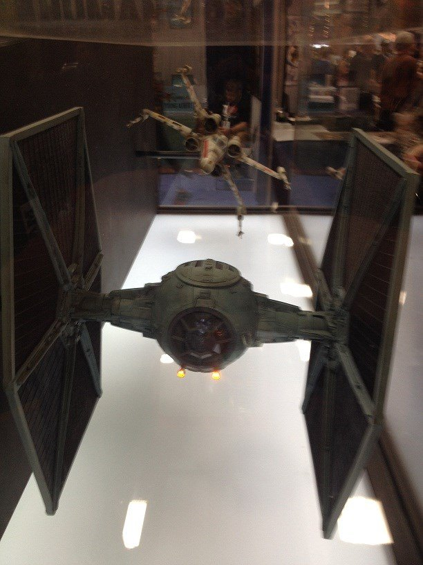 Original X-Wing and Tie Fighter from Star Wars