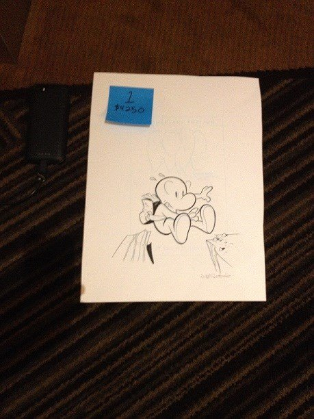 Unused Bone cover. Sold for $4250 benefiting the CBLDF.