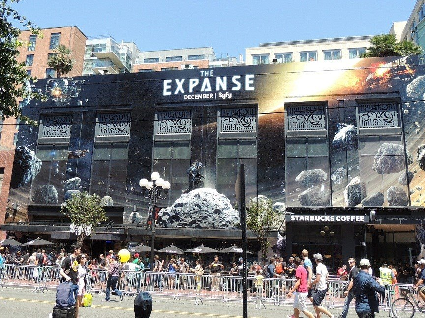Building wrapped promoting the SyFy Channel's new show, The Expanse