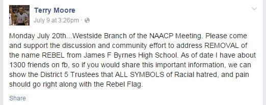 Terry Moore's Facebook post (Courtesy: Facebook)