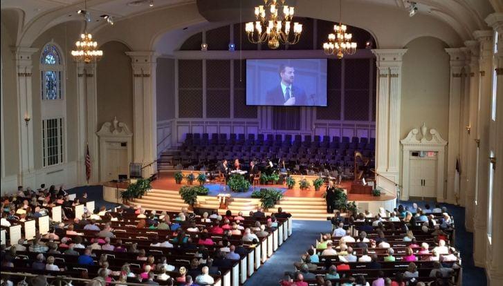 Brantly speaks at First Baptist North Spartanburg (FOX Carolina/ July 26, 2015)