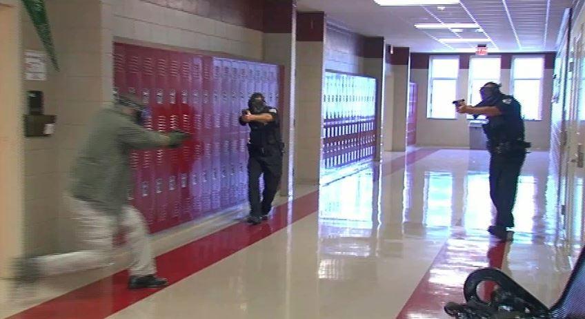 Anderson Co. deputies engage intruder during mock shooting (Fox Carolina)