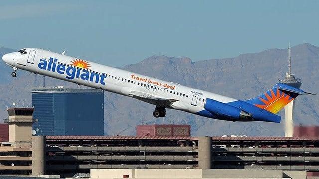 An Allegiant Air flight. (Source: Wikipedia/Aldo Bidini)