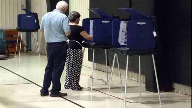 Voters cast ballots. (file/FOX Carolina)