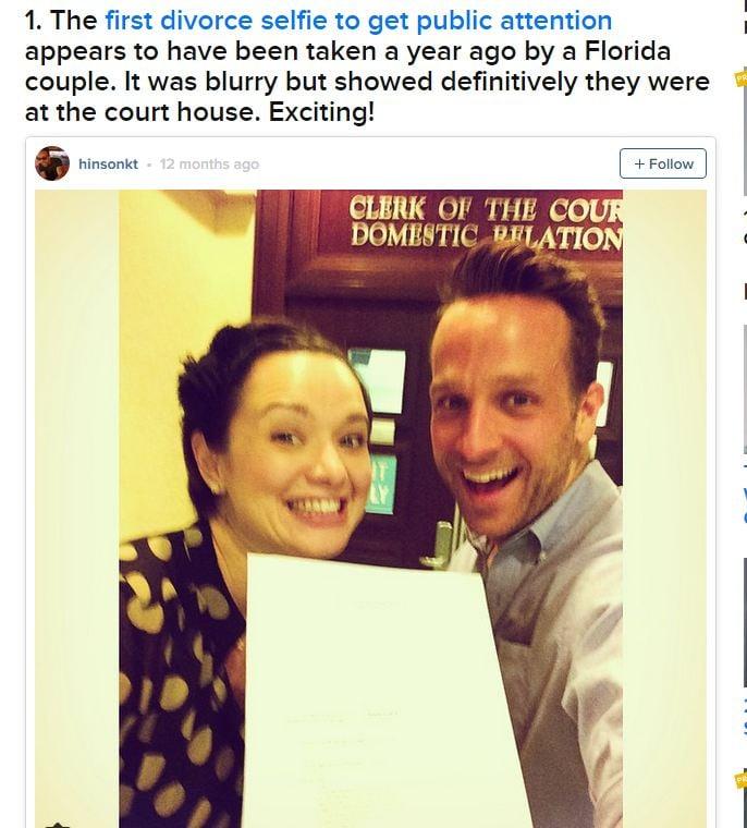 A couple posts a divorce selfie (Buzzfeed)