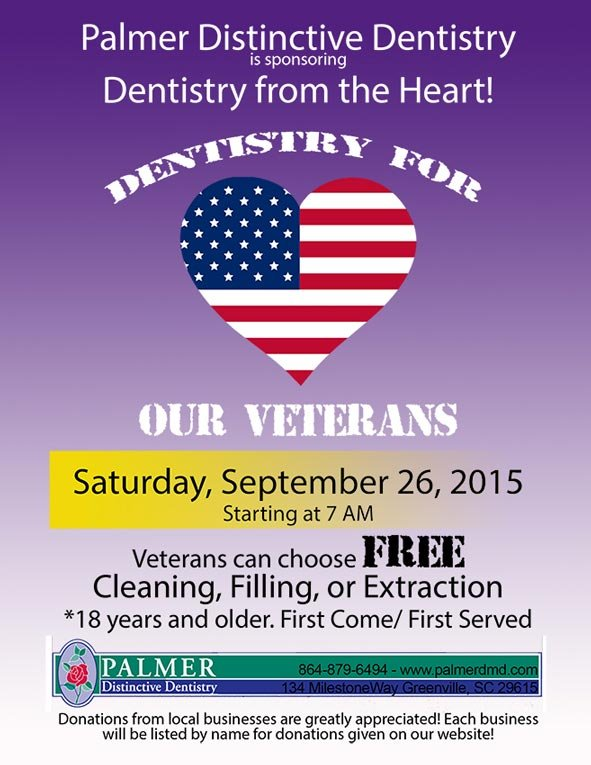 On Saturday, veterans can choose between a free cleaning, filling or extraction. (Source: PDD)