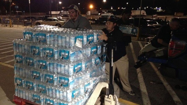 The Spartanburg County Sheriff's Office is one of many agencies collecting donations for victims of floods in South Carolina. (FOX Carolina 10/5/2015)