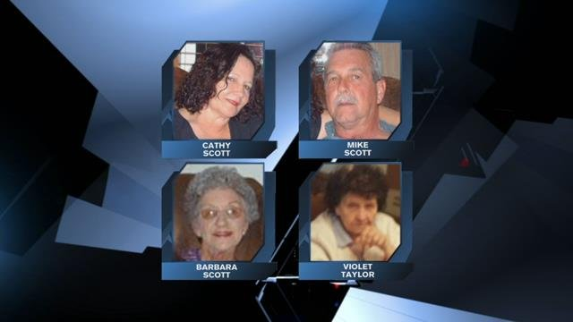 The victims have been identified as Barbara Scott, age 80; Cathy Scott, age 60; Violet Taylor, age 82; and Michael Scott, age 59 (file/FOX Carolina)