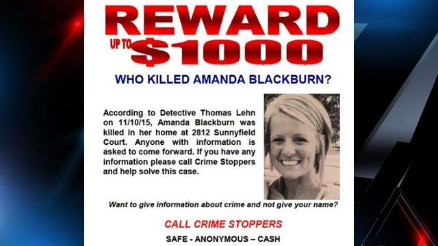 Police in Indianapolis are searching for a suspect after Amanda Blackburn was killed.