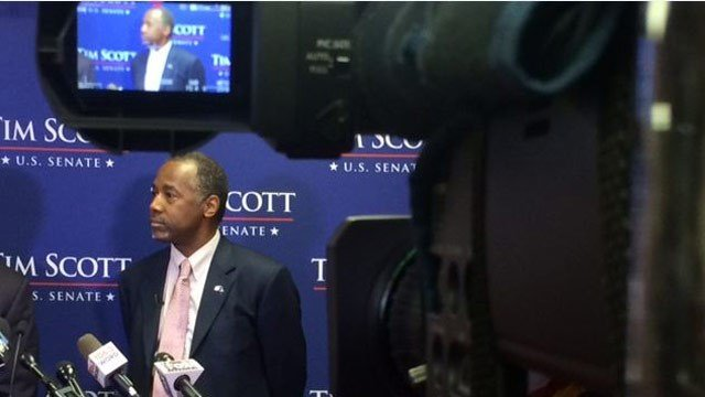 Ben Carson campaigned in the Upstate in November. (FOX Carolina/file)