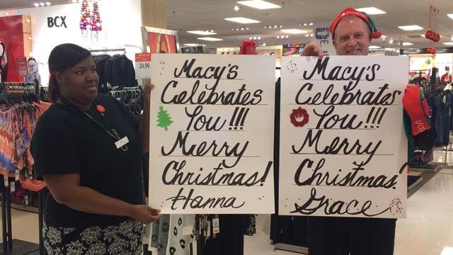 Macy's staff helped make the twins' wishes come true. (Dec. 11, 2015/FOX Carolina)