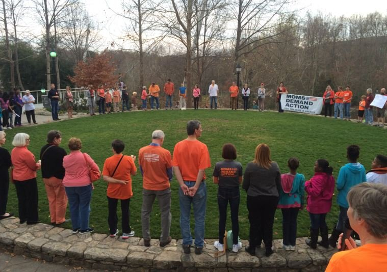 Community members gather in Greenville to honor Sandy Hook victims. (Source: Fox Carolina)