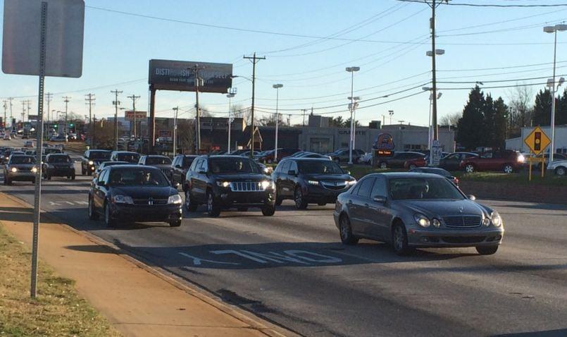 Traffic Laurens Road. (Source: Fox Carolina)