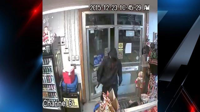 Haywood County deputies are searching for this suspect accused of robbing a convenience store at gunpoint on Tuesday night. (Photo provided by Haywood County Sheriff's Office)