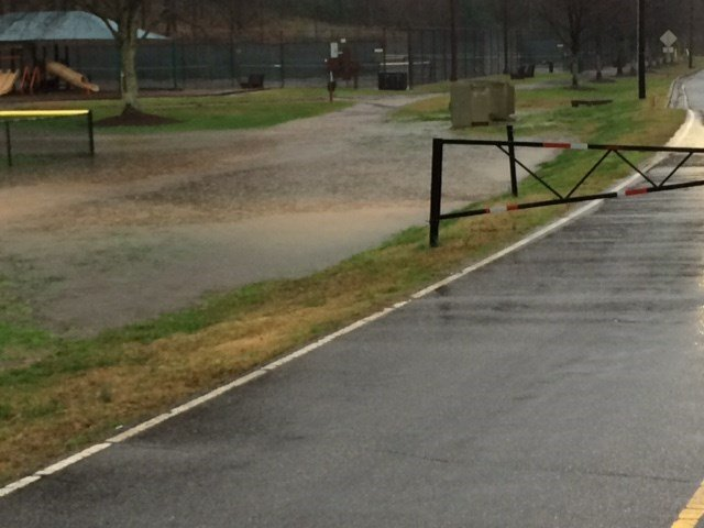 High water at Cleveland Park (Dec. 30, 2015)