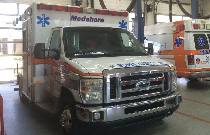 Photo of a MedShore ambulance (FOX Carolina)