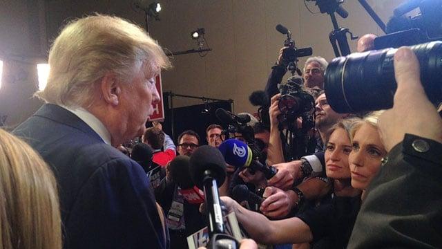 Trump at the GOP debate. (Jan. 14, 2016/FOX Carolina)
