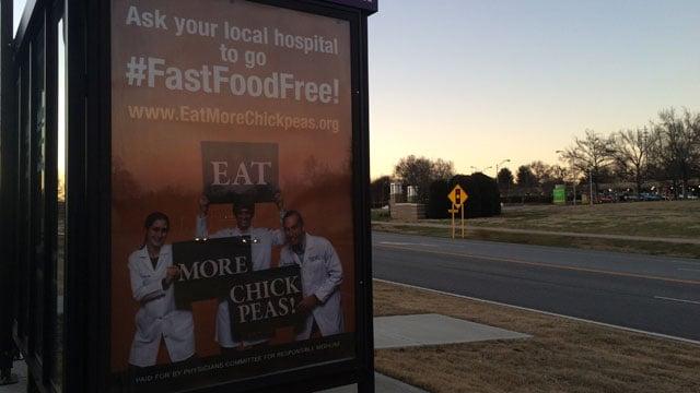 The ad appears near a GHS campus. (Jan. 29, 2016/FOX Carolina)