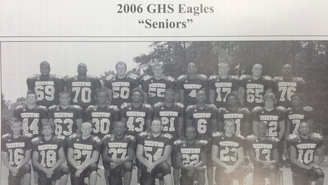 Panthers cornerback Josh Norman is pictured with his high school football team in Greenwood High School. Norman is number 6. (Photo provided)