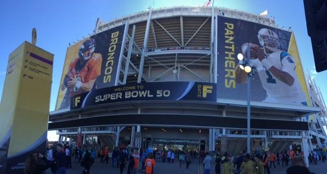 Levi's Stadium decorated for Super Bowl 50. (Feb. 7, 2016/FOX Carolina)