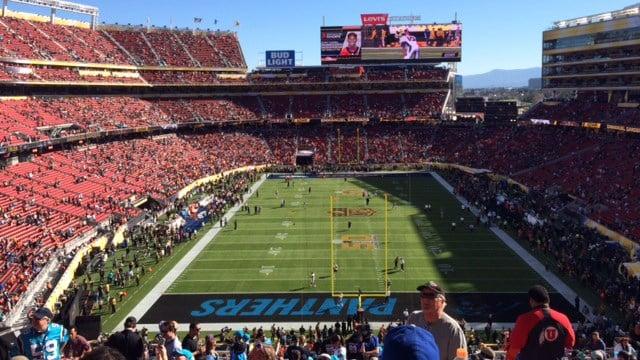 The view from inside Levi's Stadium. (Feb. 7, 2016/FOX Carolina)