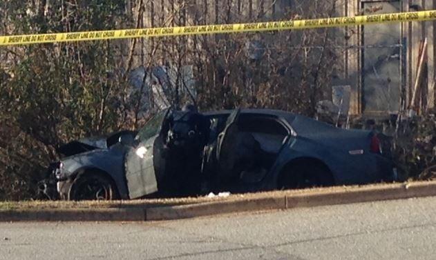 The second car involved in the crash (FOX Carolina/ Feb. 18, 2016)
