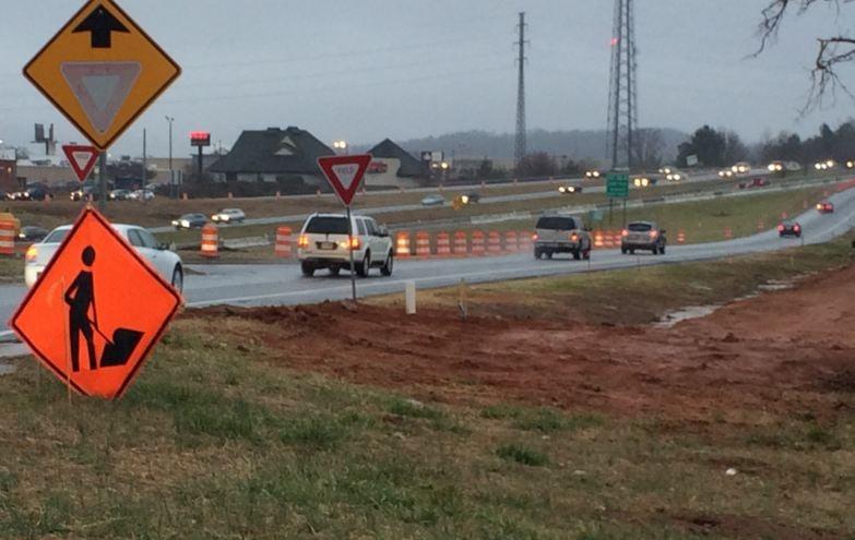 85 385 Gateway project is underway. (Source: Fox Carolina)