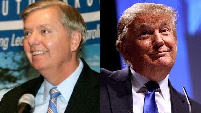 Lindsey Graham and Donald Trump (file/FOX Carolina)
