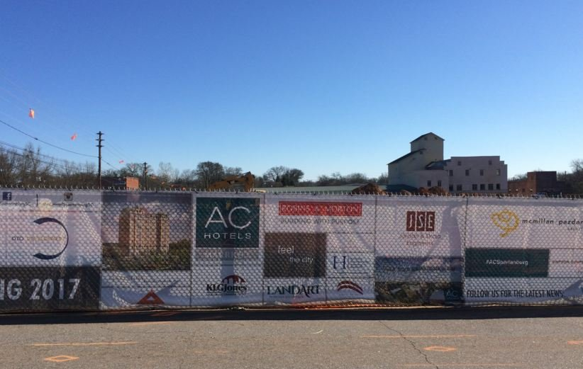 AC Hotel by Marriot under construction on West Main Street. (Source: Fox Carolina)