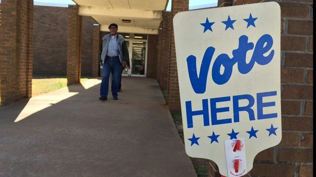 A voter heads to polls. (FOX Carolina 2/27/2016)