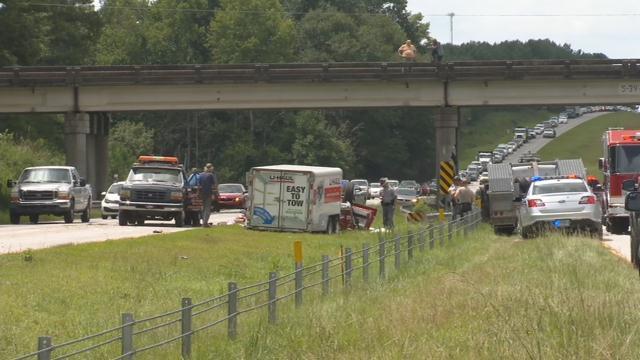 Crash on US 123 near Easley (FOX Carolina/ Aug. 17, 2018)