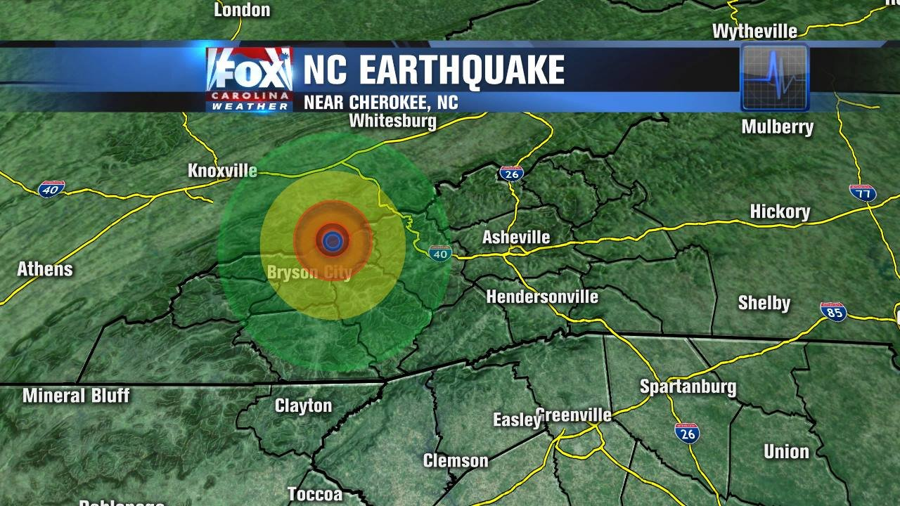 Earthquake north of Cherokee, NC - WMBFNews.com, Myrtle ...